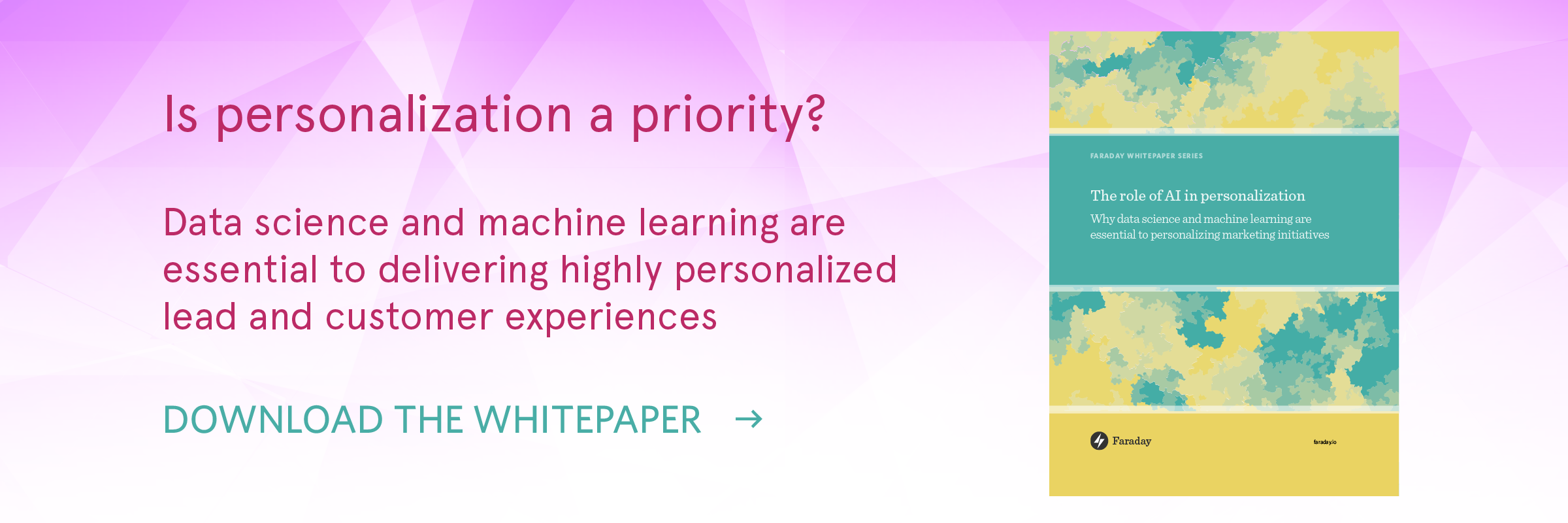 """The role of AI in personalization"" whitepaper promo"