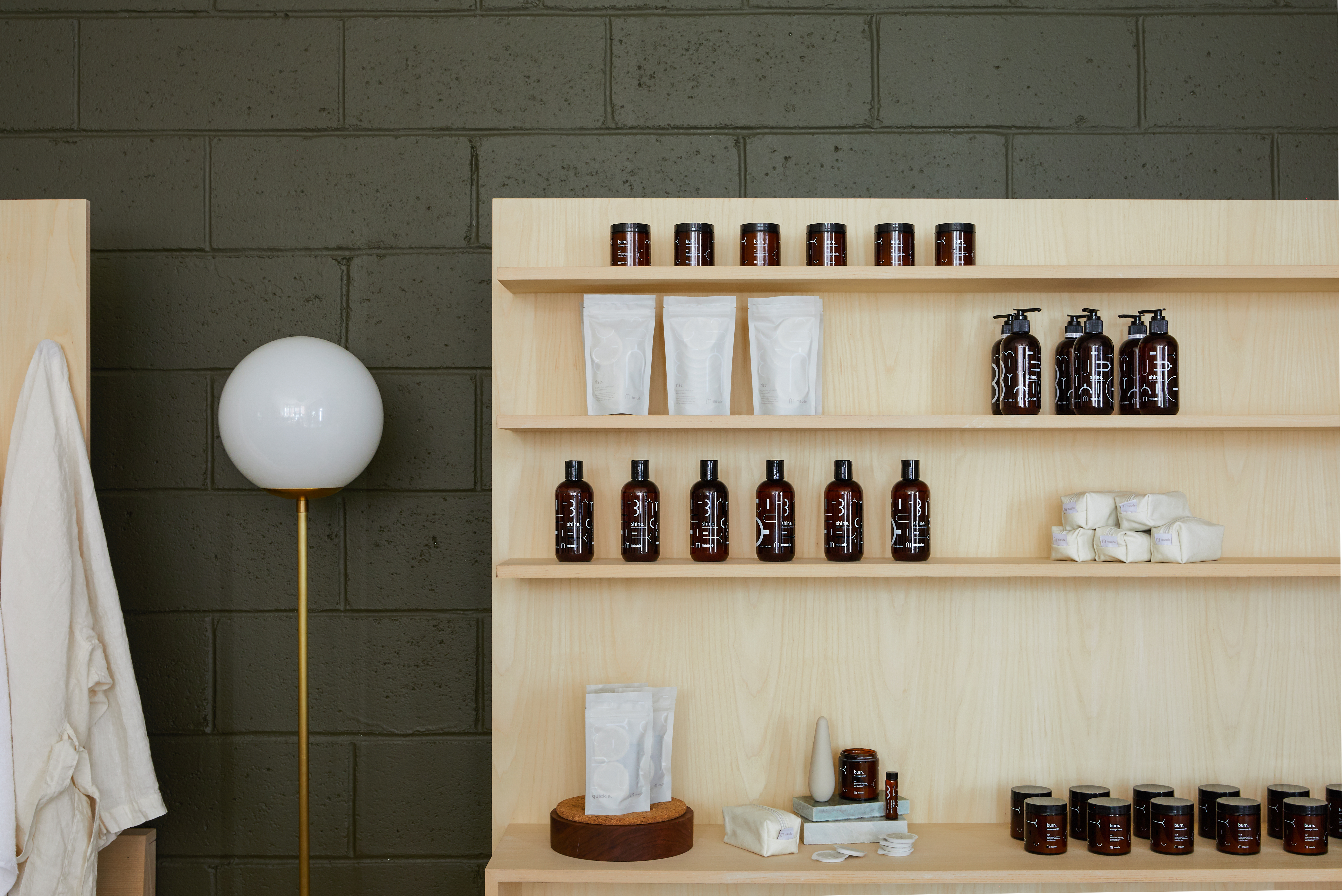 maude Staycation retail popup shelf