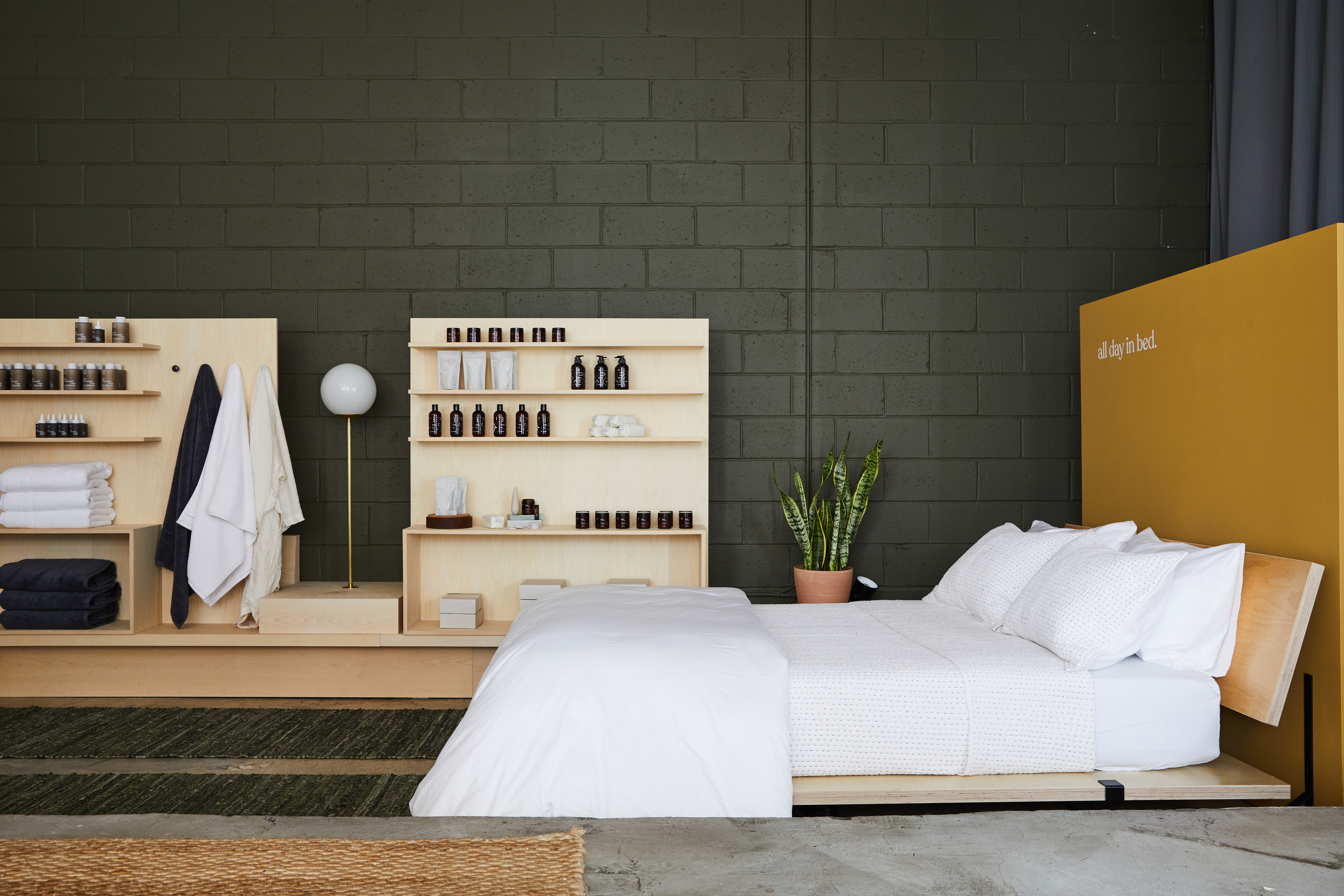 maude Staycation retail popup bed